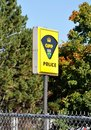 OPP police sign Royalty Free Stock Photo