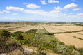 The oppidum d ensérune is an ancient hill town or oppidum near village of nissan lez in france Royalty Free Stock Photos