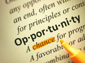 The word Opportunity Royalty Free Stock Photo