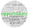 Opportunity and success concept in word tag cloud on white Royalty Free Stock Photos