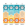 Opposing bars infographic vector illustration of design elements Royalty Free Stock Photo