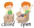 Cerrado y abrir