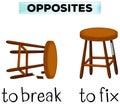 Opposite words for break and fix