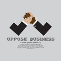 The opposition of business conceptual illustration vector eps Stock Photos