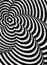 Opt art illustration optical illusion Royalty Free Stock Photos