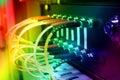 Optický vlákno kabely spojený na přepnout