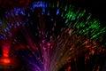 Optic fibers photo from orange fiber Stock Images