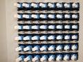 Optical fiber patch panel Stock Photo