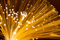 Optical fibre in golden Royalty Free Stock Photo