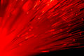 Optical fibres abstract blurred technology background Royalty Free Stock Photo
