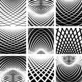 Optical illusion. Abstract backdrops set. Stock Photos