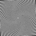 Optical illusion art square vector background for your design Stock Photo