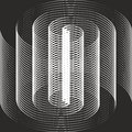 Optical illusion a black and white spiral Royalty Free Stock Photography