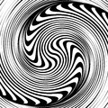 Optical illusion a black and white spiral Stock Photos