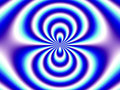 Optical Illusion Blue White Double Funnel Stock Images