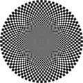 Optical illusion, circle Stock Photography