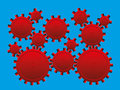 Optical Illusion Cog Wheels Illusory Motion Royalty Free Stock Photo