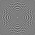 Optical illusion design. Abstract op art pattern.