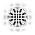 Optical illusion dots vector illustration of the abstract background Stock Image