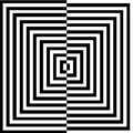Optical illusion for hypnotherapy or psychic Royalty Free Stock Photography