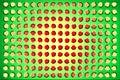 The optical illusion Royalty Free Stock Photo