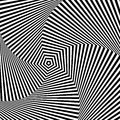 Optical illusion op art also known as art is a style of visual art that makes use of illusions Stock Image