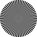 Optical illusion, round Stock Photo