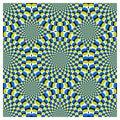Vektor optický ilúzia točiť cyklus štruktúrovaný