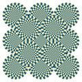Optický iluze točit cyklus (vektor)