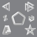 Optical illusion symbols.  Vector illustration. Stock Image