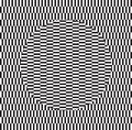 Optical illusion of torsion and rotation movement. Dynamic effect. Royalty Free Stock Photo