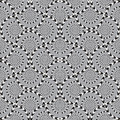 Optical illusion vector seamless pattern background circles rotates slowly Royalty Free Stock Photo