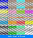 Optical illusions cubes abstract colorful geometric seamless pattern background with squares this is vector illustration ideal for Royalty Free Stock Image