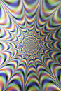 Optical illusions infinity light tunnel colored laser motion blur back ground texture patterns abstract patterns Royalty Free Stock Photography
