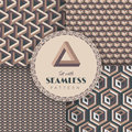 Optical illusions set with seamless pattern vector illustration eps Royalty Free Stock Photography