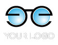 Optical logo vector illustration for eye hospital opticals and eye care Stock Photography
