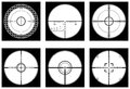 Optical sight crosshairs or sniperscope highly detailed set in vector Royalty Free Stock Images