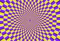 Optical spiral illusion. Magic psychedelic pattern, swirl illusions and hypnotic abstract background vector illustration Royalty Free Stock Photo