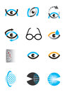 Optics eye icon set of optometry icons and design elements vector illustration Stock Photos