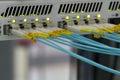 Optics fibre communication panel Royalty Free Stock Photo