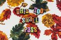 Too shall pass pessimist optimist Royalty Free Stock Photo
