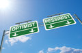 Optimist or pessimist concept. Royalty Free Stock Photo