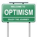 Optimistic concept. Royalty Free Stock Photo