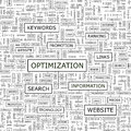 Optimization seamless pattern word cloud illustration Royalty Free Stock Photography