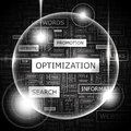 Optimization word cloud concept illustration wordcloud collage Royalty Free Stock Photo