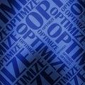 Optimize text illustration blue Royalty Free Stock Photo