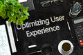 Optimizing User Experience Concept. 3D render. Royalty Free Stock Photo