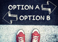 Option A and B Royalty Free Stock Photo