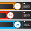 Option banner vector design info graphic template Royalty Free Stock Photography