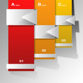 Option banners infographic design Stock Photography